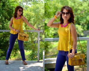 Three Ways of Wearing Coloured Denim/ Jeans