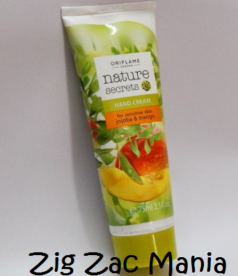 Oriflame's Nature Secrets Hand Cream (Jojoba & Mango) For Sensitive Skin Review