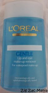 L'Oreal Gentle Lip & Eye Make-up Remover Review