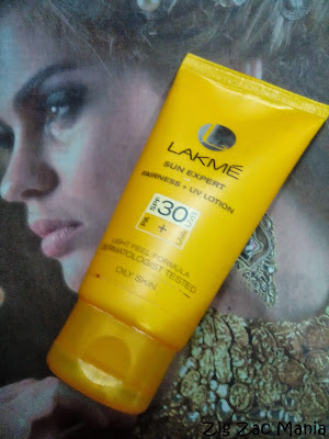 Lakme Sun Expert Fairness + UV Lotion SPF 30 PA + Review