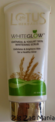 Lotus Herbals Whiteglow Oatmeal & Yogurt Skin Whitening Scrub Review