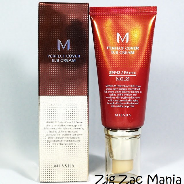 Missha M Perfect Cover BB Cream (No.21 Bright Beige) SPF42 PA+++ Review