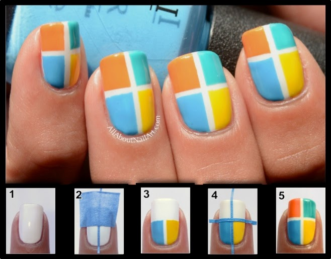 DIY: 10 Easy Nail Art With Scotch Tape