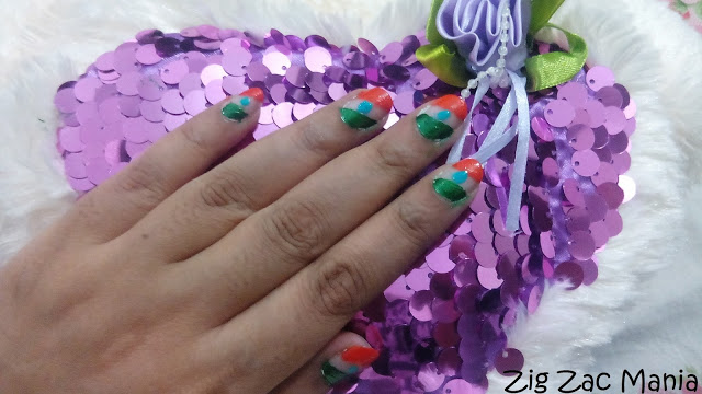 Indian Flag Inspired Nail Art Step By Step: Tutorial