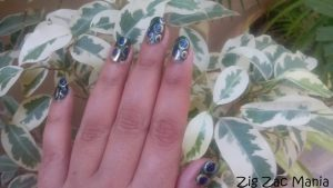 Peacock Feather Inspired Nail Art Step By Step: Tutorial (No Nail Art Tools)