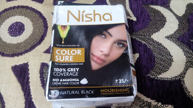 Nisha Color Sure (Natural Black-01) Hair Color Review