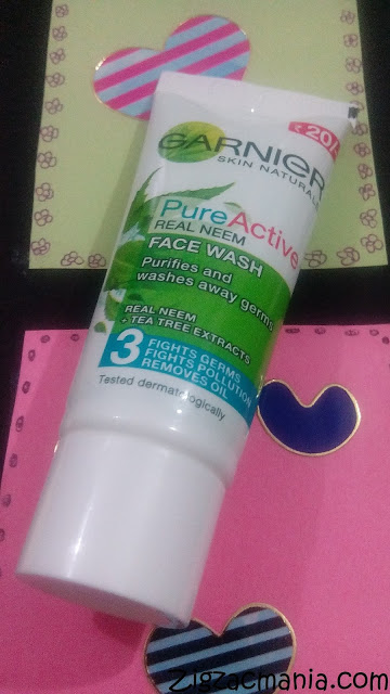 My Acne Diary: Garnier Pure Active Real Neem Face Wash Review