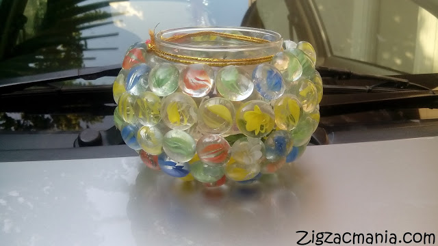 DIY: Glass Stones Vase (Converting an old bowl into a beautiful vase)