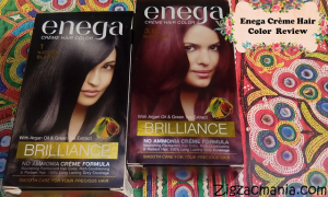 Enega Crème Hair Color (Black & Burgundy) Review