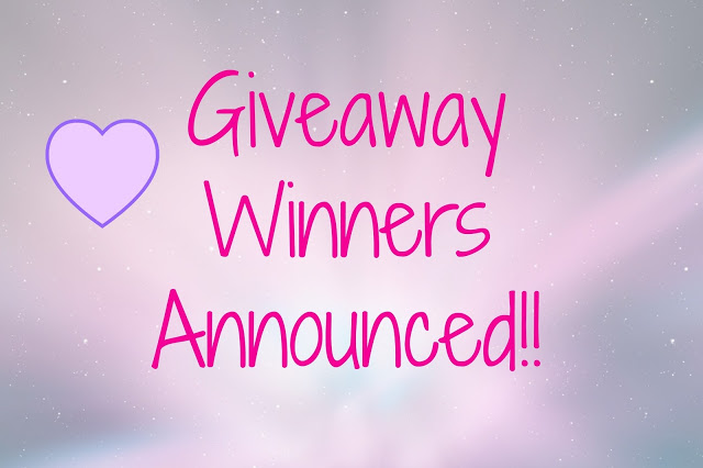 Blog's First Anniversary Giveaway Winners Announcement