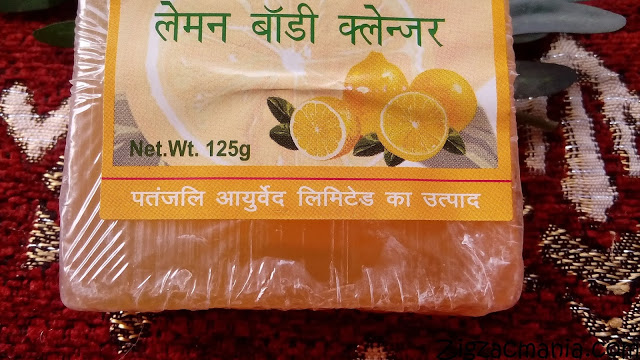 Patanjali Lemon Body Cleanser Packaging