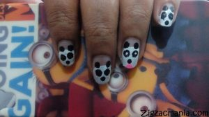 Kung Fu Panda Inspired Nail Art: Step By Step Tutorial (No Nail Art Tools)