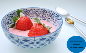 My Acne Diary: Yogurt-Strawberry Face Mask For Acne or Pimples & Healthy Glowing Skin