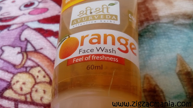 Sri Sri Ayurveda Orange Face Wash: Color, Price, Online availiability