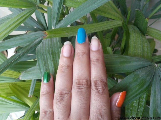 Independence Day (Indian Flag Inspired) Nail Step by step pictures