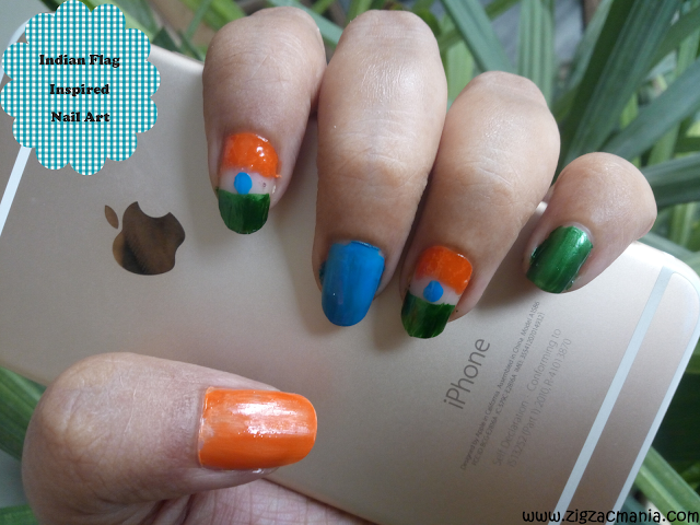 Independence Day (Indian Flag Inspired) Nail Art Step By Step: Tutorial