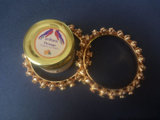 Ardhana Orange Lip Balm Packaging & Ingredients