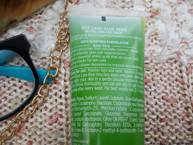 Doy Care Aloe Vera Face Wash Review