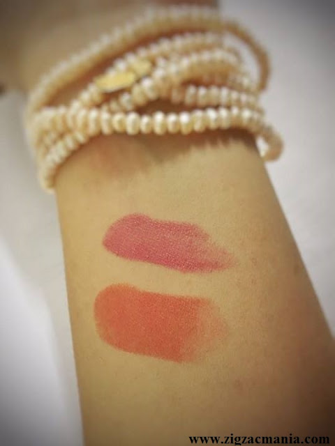 Chambor Moisture Plus Lipsticks Review & Swatches: Hottie Plus 344 & Orange Plus 382