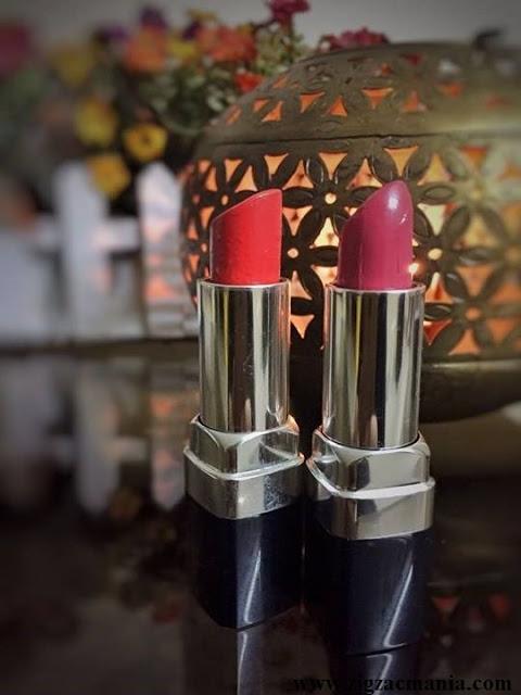 Chambor Moisture Plus Lipsticks Review & Swatches: Hottie Plus 344 & Orange Plus 382