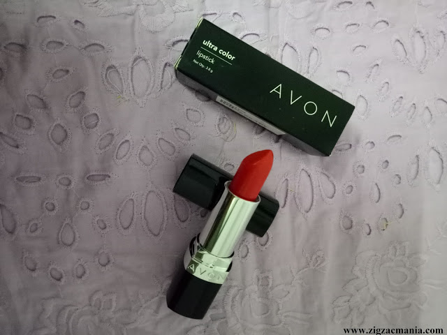 Avon Ultra Color Ignite Lava Love Lipstick Review & Swatches