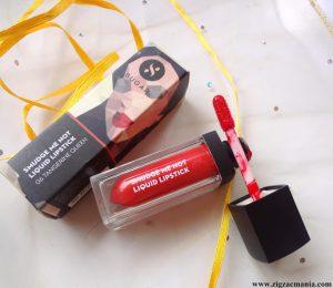 Sugar Cosmetics Smudge Me Not Liquid Lipstick Tangerine Queen (Shade no:06)   Review & Swatch