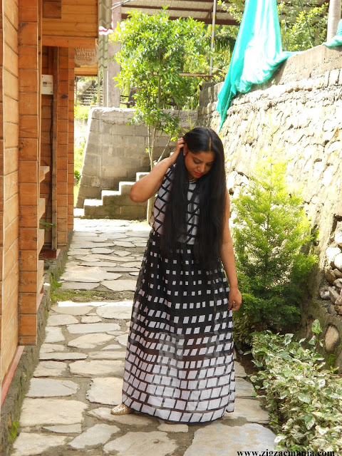 OOTD: Monochrome Craziness| Maxi Dress