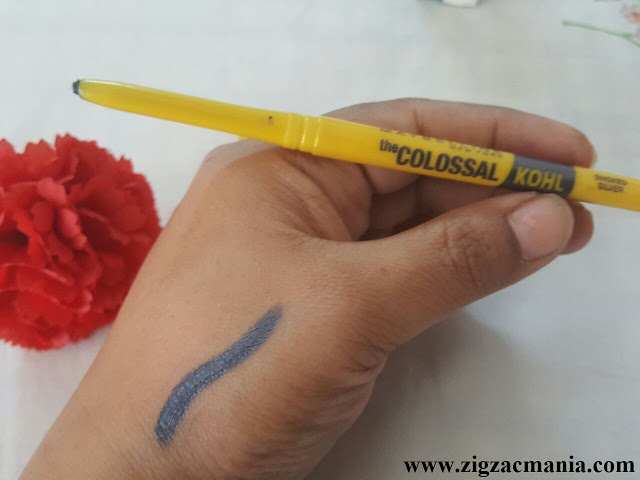 Maybelline The Colossal Kohl Smoked Silver| Review & Swatch