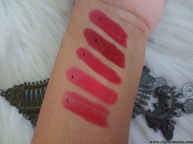 My 5 Favorite Red Lipsticks