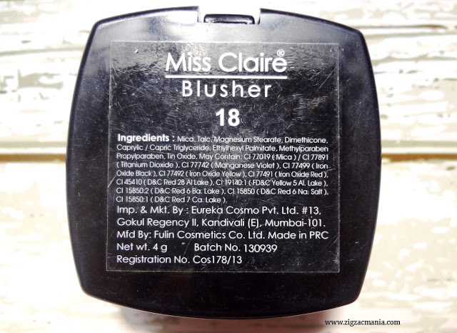 Miss Claire Blusher In Shade 18
