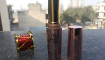 Lakme 9 To 5 Primer + Matte Lipstick Saffron Gossip (MR7): Review & Swatches
