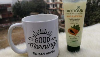 Biotique Papaya Visibly Ageless Scrub Wash Review