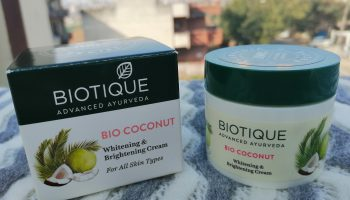 Biotique Bio Coconut Whitening and Brightening Cream Review