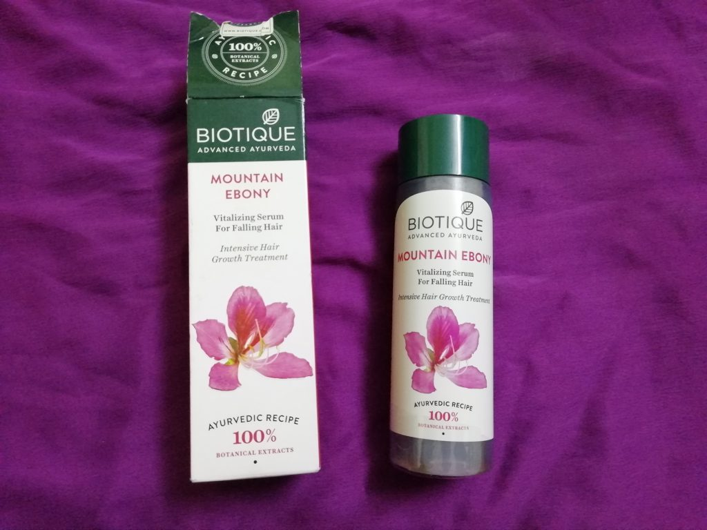 Biotique Mountain Ebony Vitalizing Serum Review