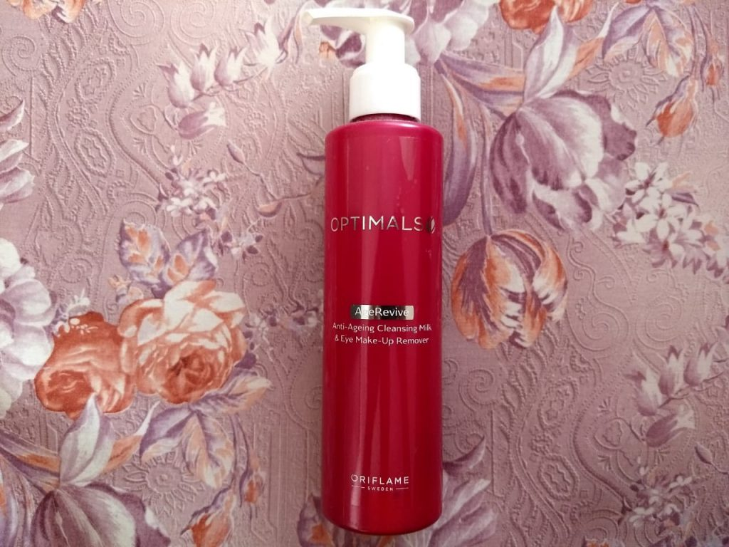 Oriflame Optimals Age Revive 2in1 Cleansing Milk & Eye Make-Up Remover| Review