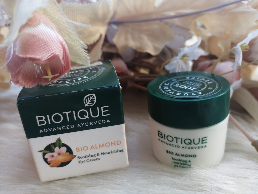 Biotique Bio Almond Soothing and Nourishing Eye Cream|Review
