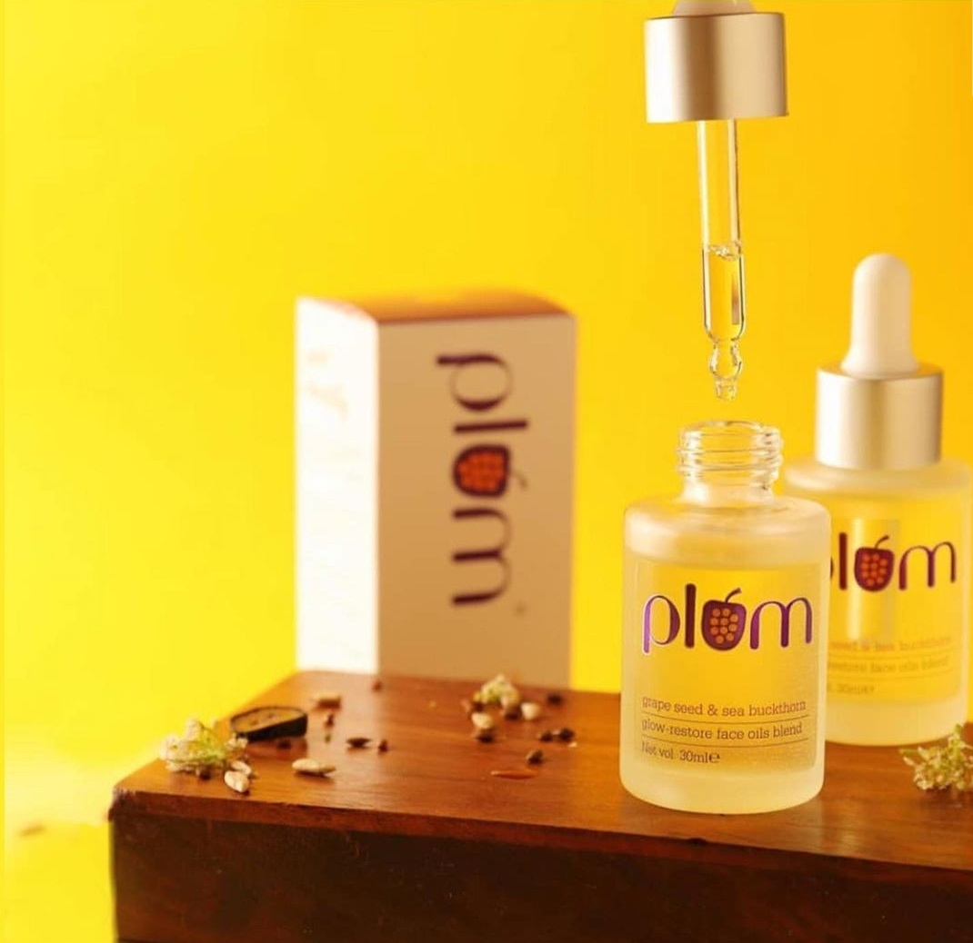 Plum Grape Seed & Sea Buckthorn Glow Restore Face Oils Blend| Review