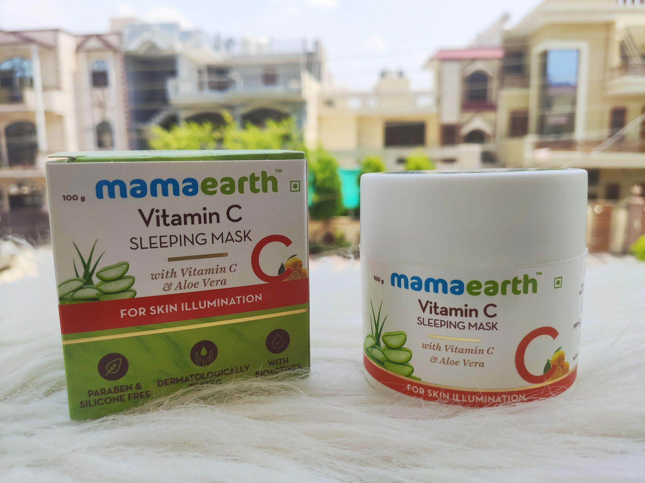 MamaEarth Vitamin C Night Sleeping Mask|Review
